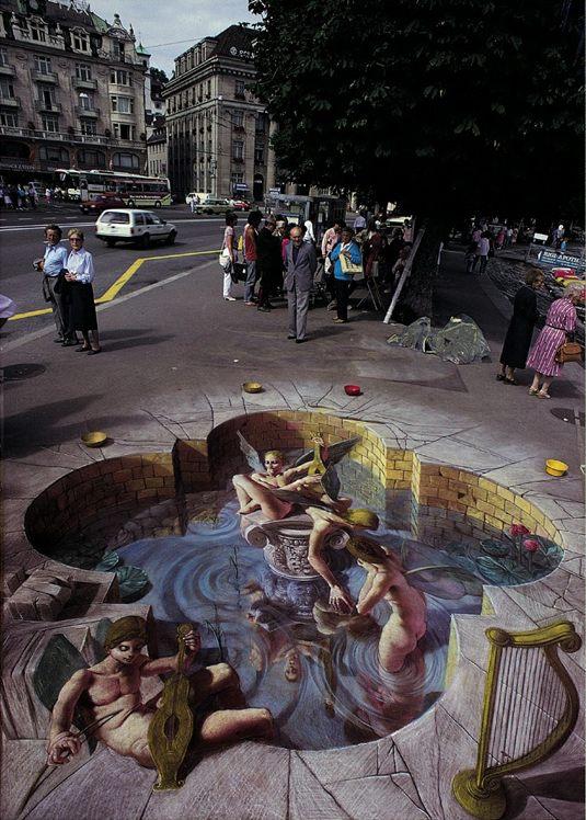 Kurt Wenner Street Art