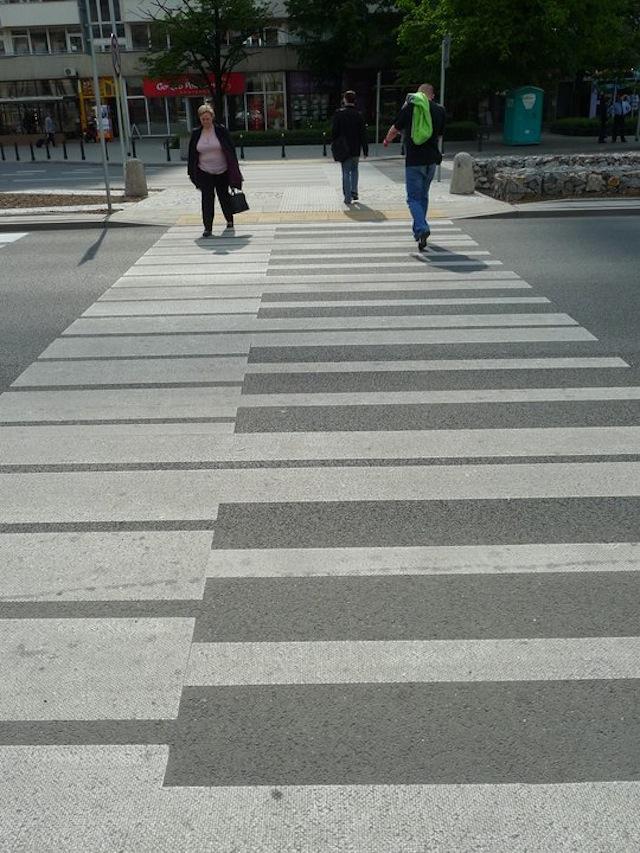 Piano keys - pavement art