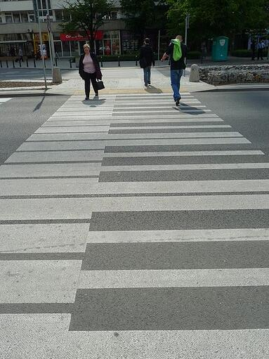 Piano keys - pavement art