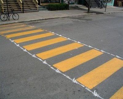 Barbed Wire Crosswalk Art