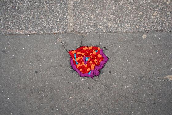 Pothole Repair with Yarn