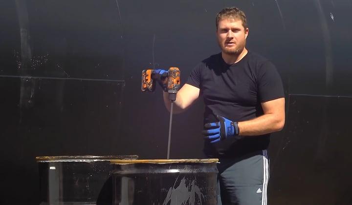 How to Mix Asphalt Sealer in 55-Gallon Drums
